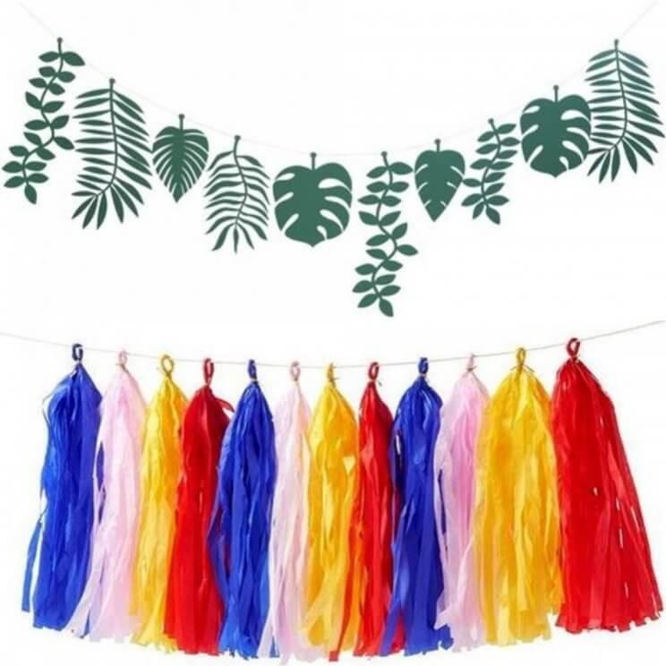 De leukste slingers voor je kind: vlaggetjes voor binnen en buiten. Papieren vlaggetjes en tassels