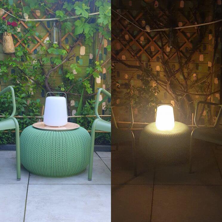 Fermob Balad led-lamp: mooi, oplaadbaar, lekker stevig en geeft een prachtig flikkerend licht