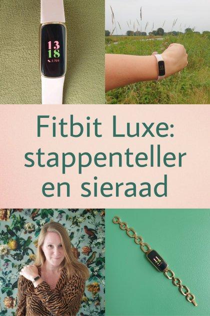 Fitbit Luxe review: horloge, stappenteller en sieraad. Super handig zo'n stappenteller, maar ik wil ook een mooi horloge. De Fitbit Luxe is een horloge met activity tracker, maar met de Gorjana armband zo mooi dat het ook een sieraad is. Kijk je mee naar mijn review van de Fitbit Luxe?