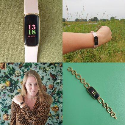 Fitbit heeft een activity tracker die ook een heel mooi horloge en schakelarmband is: de Fitbit Luxe.
