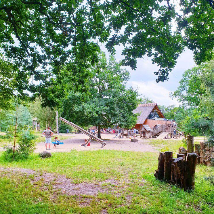 Op de Bussumerheide is de heide heel weids, maar je kunt ook door het bos lopen. Paviljoen Heidezicht ligt aan de rand van de Bussumerheide. Bij het restaurant is een grote houten omheide speeltuin, die zowel voor kleine als grote kids leuk is. Oh ja en er zijn ook nog mooie herten.